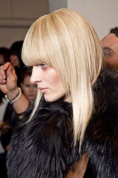 """""""Fall 2012 Hair Trends - Best Hair Trends for Fall 2012 - Harper's BAZAAR"""". Liking the makeup as well."""