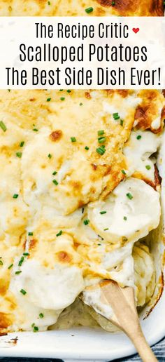 These scalloped potatoes are tender, creamy and so delicious! The parmesan cheese adds such amazing flavor and these are a must make side dish! Creamy Scalloped Potatoes, Scalloped Potato Recipes, Scalloped Potato Casserole, Scallop Potatoes, Best Side Dishes, Vegetable Side Dishes, Scalopped Potatoes Recipe, Side Dish Recipes, Vegetable Recipes