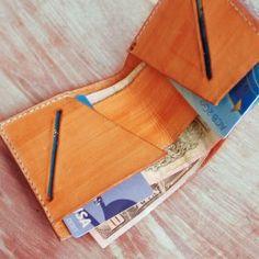 Women and men leather wallet gift hand stitched original unique design T25