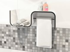 Clever & multifunctional bathroom shelf