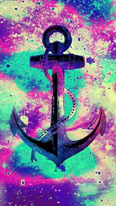 Anchor grunge galaxy iPhone/Android wallpaper I created for the app CocoPPa!