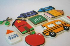 Sugar cookies for teacher gifts. Includes their tutorial for making the cookies. Apple Cookies, Fall Cookies, Cookies For Kids, Cut Out Cookies, Iced Cookies, Cute Cookies, Cupcake Cookies, Sugar Cookies, Cupcakes