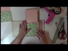 Daily Stories Mini Album tutorial - New simple hinge binding. - YouTube