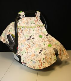Baby Car Carrier Cover - Covers and Wraps - Baby Carrier Cover - Infant Car Seat Canopy - Woodland Animal Car Seat Cover & Baby Carrier Cover - Infant Car Seat Cover - Newborn Carrier ...