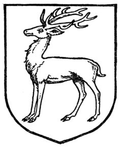 Fig. 384.—Stag statant. Date 	1909 Source 	A Complete Guide to Heraldry. Author 	 [show]Arthur Charles Fox-Davies oktouse