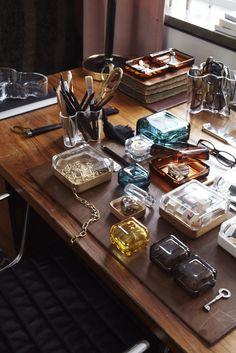 Iittala Vitriini Boxes and Aalto Vases. In Praise Of Shadows, All The Small Things, Interior Stylist, Marimekko, Glass Design, Interior Design Inspiration, Scandinavian Design, Home Furnishings, Home Accessories