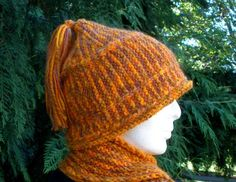 Indian Corn Striped Knitted Cap by MountainMist on Etsy