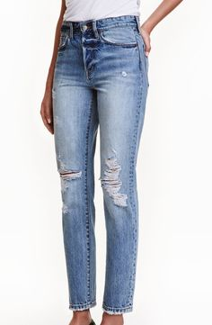 Vintage high cropped jeans | H&M