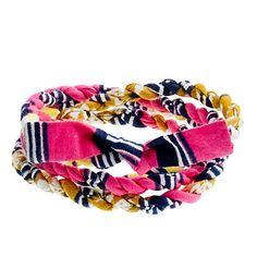 Indego Africa for JCrew Cloth Wrap Bracelet, the ultimate summer staple.