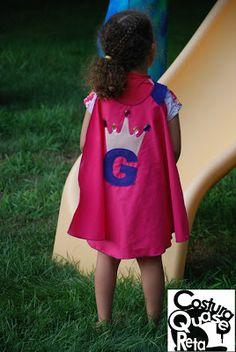 Capa de super herói Super hero capes Costura Quase Reta