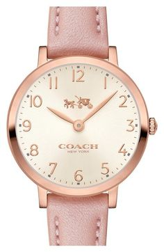 COACH 'Slim Easton' Leather Strap Watch, 28mm available at #Nordstrom