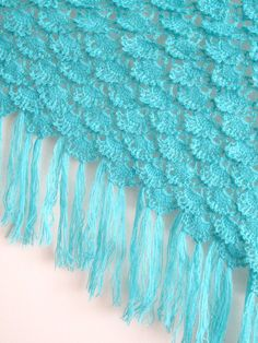 Crochet Shawl Shrug Wrap Mohair turquoise by crochetbutterfly
