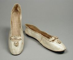 Pair of Woman's Slippers, England or United States, circa 1810, LACMA Collections Online
