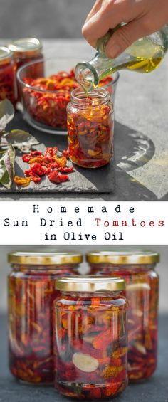With a super intense tomato flavour and just a hint of basil and garlic, these sun dried tomatoes are the perfect addition to bring back summertime memories during those long cold winter days. Make Sun Dried Tomatoes, Homemade Mozzarella Sticks, Honey Glazed Ham, Mushroom Burger, Pizza, Dark Chocolate Cakes, Dehydrated Food, Dehydrator Recipes, Liqueur