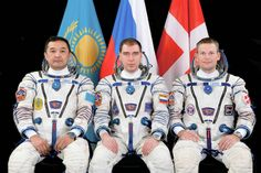 Aidyn Aimbetov of the Kazakh Space Agency, Sergei Volkov of the Russian Federal Space Agency and Andreas Mogensen of ESA (European Space Agency) will launch from the Baikonur Cosmodrome in Kazakhstan Wednesday, Sept. 2, 2015.