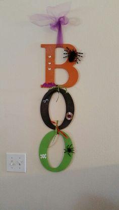 BOO door sign