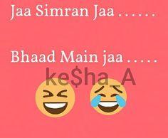 Shayari Funny, Funny Quotes In Hindi, Sassy Quotes, Girly Quotes, Jokes Quotes, Whatsapp Fun, Laughter Therapy, Desi Jokes, Indian Jokes