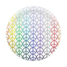 Rainbow Peace Signs Paper Plates