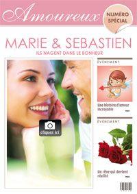 carte papier pour souhaiter un joyeux anniversaire de mariage a personnaliser avec la photo du - Cartes Virtuelles Anniversaire De Mariage