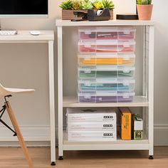Easy ways to sort, store and organize craft paper or important documents. Craft Storage Drawers, Office Storage, Office Organization, Storage Spaces, Organizing, Under Bed Drawers, Reach In Closet, Scrapbook Storage, Office Items