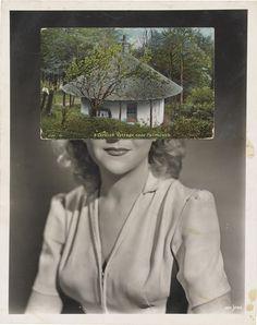 John Stezaker Mask CIV, Collage x cm. Collages, Collage Artists, Photomontage, John Stezaker, Saatchi Gallery, Glitch Art, Thing 1, Film Stills, List Of Artists