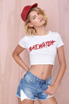 Made In Hell-A Baewatch Crop Top | Shop Tops at Nasty Gal