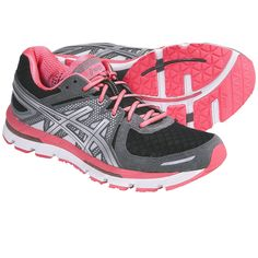 Nothing like a cute pair of shoes to make you want to run!  Asics GEL-Excel33 Running Shoes (For Women) in Storm/Lightning/Neon Pink
