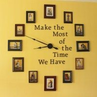 Large Photo Wall Clock DIY | Arts & Crackers My note: I'm thinking this will be the centerpiece of a baby's room...music inspired, of course.