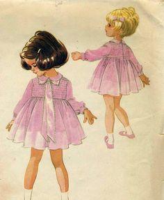 Vintage McCalls 8526 UNCUT Childs Shirred Bodice by RomasMaison, $24.00