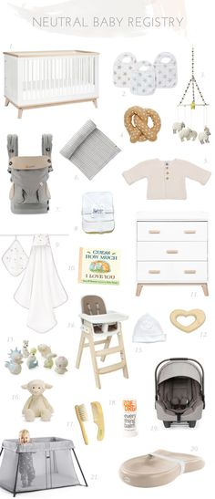 Neutral modern baby registry from Tiny Crane                                                                                                                                                                                 More