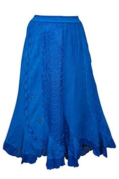 Mogul Gothic Skirt Blue Embroidered Gypsy Uneven Hemline ... https://www.amazon.com/dp/B01GCLWY0Y/ref=cm_sw_r_pi_dp_x_YLa-xbA0CYE5J