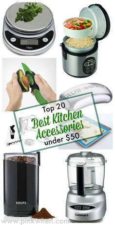Top 20 best kitchen accessories, all under $50. Take your favorite recipe to the next level with these kitchen tools.