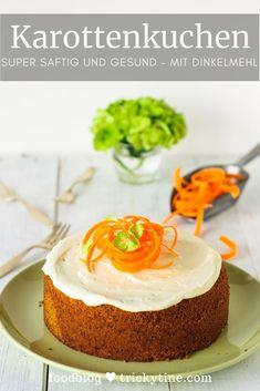 Pastel de zanahoria súper jugoso y saludable: ¡una oda a la espelta! - ¡Receta para un pastel de zanahoria súper sabroso, jugoso pero saludable! Healthy Carrot Cakes, Healthy Muffins, Healthy Dessert Recipes, Easy Desserts, Dessert Simple, Dump Cake Recipes, Baking Recipes, Muffins Sains, Desserts Sains