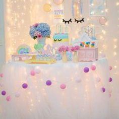 mesa decor unicornio