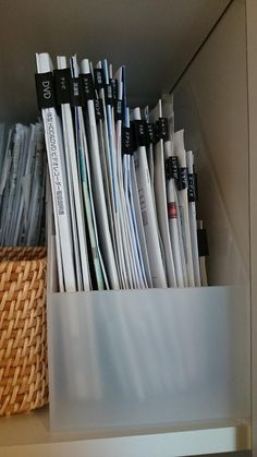 that would be a good idea for document folders Home Office Organization, Paper Organization, Office Storage, Muji Storage, Neat And Tidy, Tidy Up, Interior Garden, My New Room, Getting Organized
