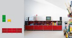 USM Modular Furniture - Haller. Lots of colors and permutations. Alas, amazingly expensive!