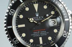 1970 Rolex Red Submariner Ref: 1680 Mark IV Dial
