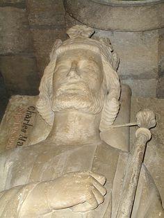 Charles Martel (The Hammer) c. 688-741 sarcophagus, Saint Denis Basilique Saint-Denis Departement de Seine-Saint-Denis Ile-de-France, France