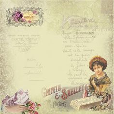 papier scrap - Page 13 Vintage Diy, Papel Vintage, Vintage Labels, Vintage Ephemera, Looks Vintage, Vintage Paper, Vintage Images, Vintage Style, Background Vintage