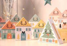 FREE Printable Advent Calendar Village