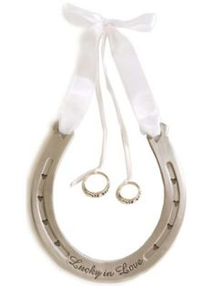 alternate ring bearer pillow... i like this better with a more rustic horseshoe and different ribbon