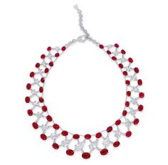 Christie's Hong Kong Sets Record for Most Valuable Jewelry Auction in Asia.  A 120 ct. Burmese ruby and diamond necklace by Etcetera sold for $13 million, setting a world auction record for a ruby necklace