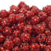 12mm Resin Rhinestone Beads - Red