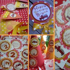 Fire Truck Birthday Party Ideas