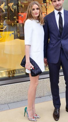 Palermo came out for the opening of the Louis Vuitton store in Frankfurt, Germany wearing a dress and bag by the label, which she styled with snakeskin Aquazzura pumps.