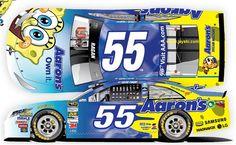The #55 Aarons/SpongeBob SquarePants David Ragan will driver in the SpongeBob SquarePants 400 at Kansas SPeedway