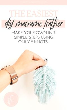 Macrame Feather DIY Tutorial I had a huuuuuge reaction over on insta about doing. Hand Made , Macrame Feather DIY Tutorial I had a huuuuuge reaction over on insta about doing. Macrame Feather DIY Tutorial I had a huuuuuge reaction over on ins. Pot Mason Diy, Mason Jar Crafts, Diy Hanging Shelves, Floating Shelves Diy, Macrame Wall Hanging Diy, Macrame Wall Hangings, Cordon Macramé, Diy 2019, Tutorial Diy