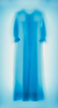 Blue Shift 2001 by Cornelia Parker. Nightgown worn by Mia Farrow in the Roman Polanski film Rosemary's Baby.