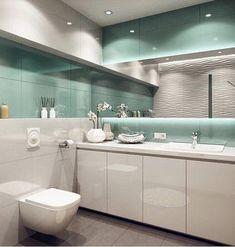 Achei tão lindo este banheiro em branco e verde água.... Repare que a parede que está refletindo no espelho, recebeu revestimento 3D. (Quem souber de quem é o projeto, gentileza nos informar!) . . . . . #decor #decoracao #decoração #decorar #decoration #decorating #decorations #homedecor #home #arquitetura #architecture #design #interior #interiores #interiordesign #interiorstyling #arquiteturadeinteriores #arquiteturaedesign #designdeinteriores #arquiteturaeurbanismo #architecturelovers…