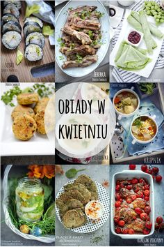 Pomysły na obiady w Kwietniu #dinnerrecipes #lunch #lunchforwork Diet Recipes, Recipies, Healthy Recipes, Polish Recipes, Fresh Rolls, Lunch Box, Food And Drink, Menu, Dinner